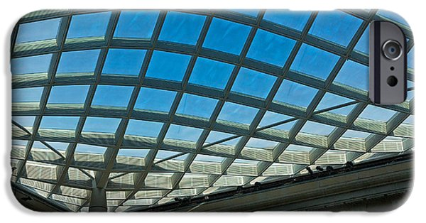 Smithsonian iPhone Cases - Kogod Courtyard Ceiling #3 iPhone Case by Stuart Litoff