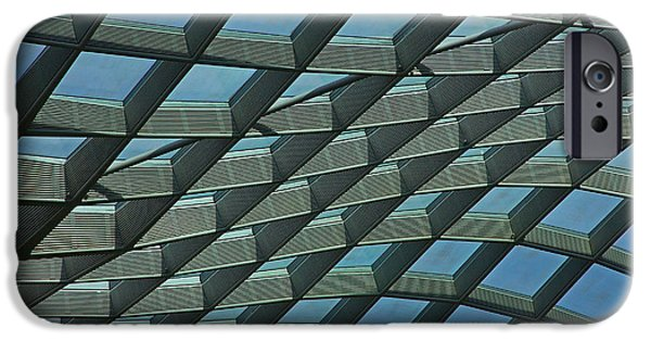 Smithsonian iPhone Cases - Kogod Courtyard Ceiling #6 iPhone Case by Stuart Litoff