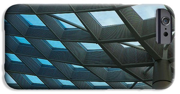 Smithsonian iPhone Cases - Kogod Courtyard Ceiling iPhone Case by Stuart Litoff