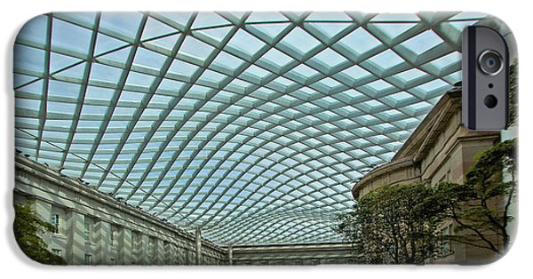Smithsonian iPhone Cases - Kogod Courtyard  iPhone Case by Stuart Litoff