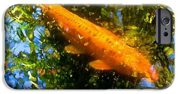 Fresh Water Fish iPhone Cases - Koi Fish 1 iPhone Case by Amy Vangsgard