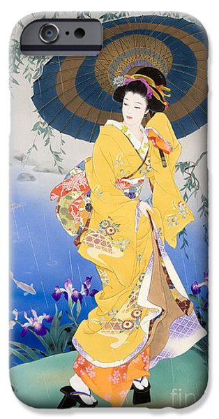 Theatrical iPhone Cases - Koi iPhone Case by Haruyo Morita