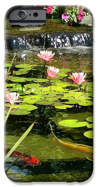 Koi Pond iPhone Case by Doug Kreuger