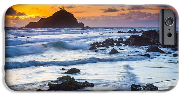 Drama iPhone Cases - Koki Beach Harmony iPhone Case by Inge Johnsson
