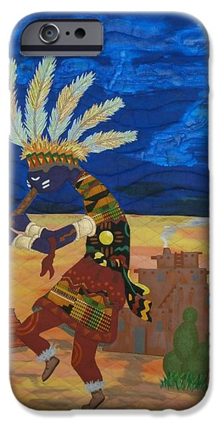 One Tapestries - Textiles iPhone Cases - Kokopelli Happiness iPhone Case by Linda Egland