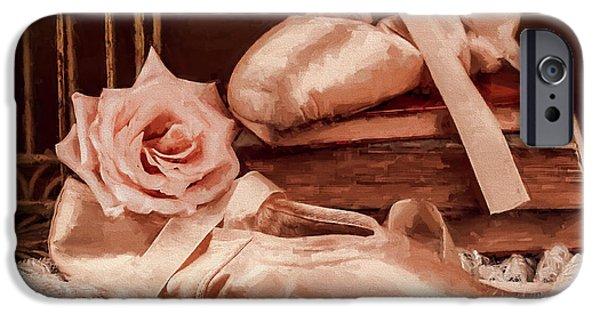 Dance Ballet Roses iPhone Cases - KoKos Dance iPhone Case by Jody Thompson