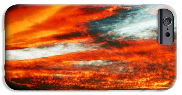 David iPhone Cases - Kona Sunset 77 Lava in the Sky  iPhone Case by David Lawson