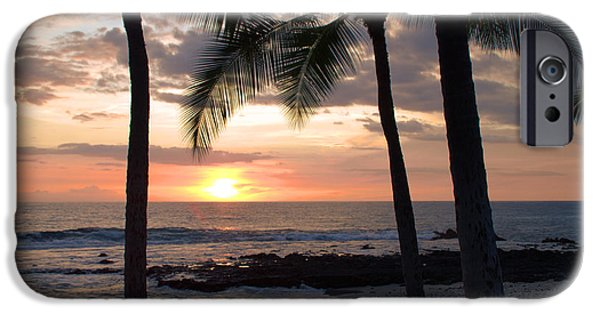 Wildlife Photographer iPhone Cases - Kona Sunset iPhone Case by Brian Harig