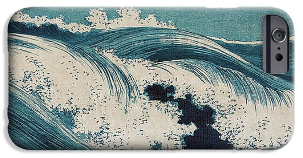 Dirty iPhone Cases - Konen Uehara Waves iPhone Case by Nomad Art And  Design