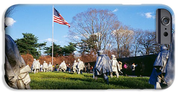 District Columbia Photographs iPhone Cases - Korean Veterans Memorial Washington Dc iPhone Case by Panoramic Images