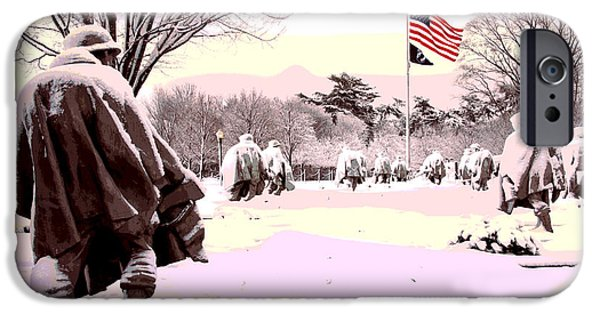 D.c. Mixed Media iPhone Cases - Korean War Memorial iPhone Case by Charles Shoup