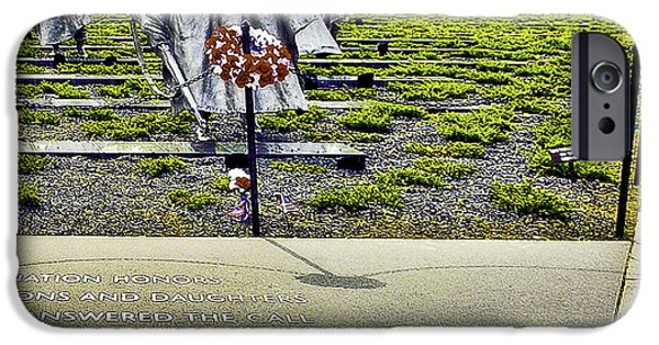 5th Infantry Regiment iPhone Cases - Korean War Memorial Washington D.C. iPhone Case by  Bob and Nadine Johnston