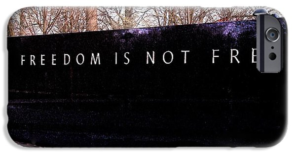 5th Infantry Regiment iPhone Cases - Korean War Veterans Memorial Freedom is Not FREE iPhone Case by  Bob and Nadine Johnston