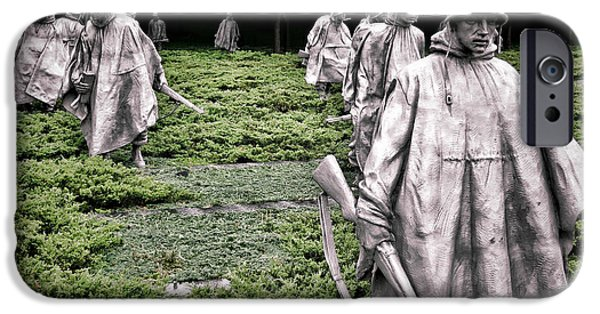 D.c. Photographs iPhone Cases - Korean War Veterans Memorial iPhone Case by Olivier Le Queinec