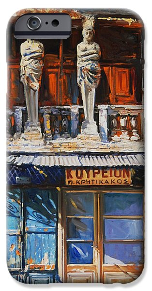 Greek Sculpture Paintings iPhone Cases - Koriates iPhone Case by Sefedin Stafa