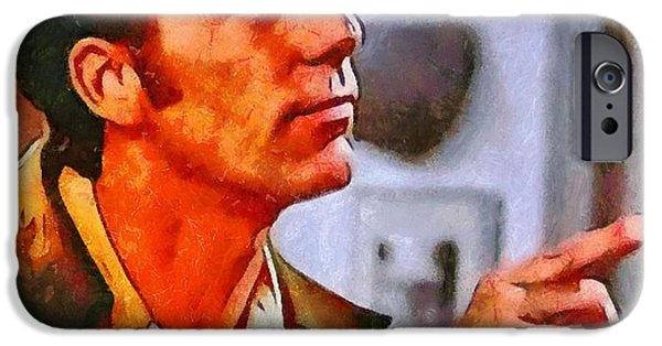 Michael Mixed Media iPhone Cases - Kramer iPhone Case by Dan Sproul