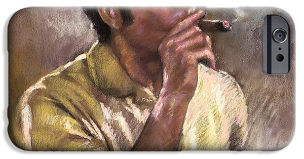 Smoking iPhone Cases - Kramer iPhone Case by Ylli Haruni