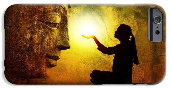 Stillness iPhone Cases - Krishna Devotion iPhone Case by Tim Gainey