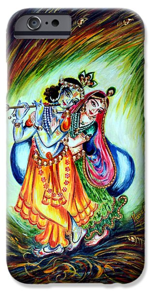 Hindu Goddess iPhone Cases - Krishna iPhone Case by Harsh Malik