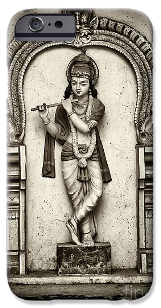 Deity iPhone Cases - Krishna Temple Statue iPhone Case by Tim Gainey