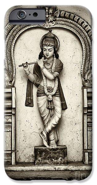 Deities iPhone Cases - Krishna Temple Statue iPhone Case by Tim Gainey