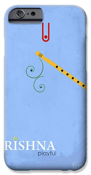 Playful Digital iPhone Cases - Krishna the Playful iPhone Case by Tim Gainey