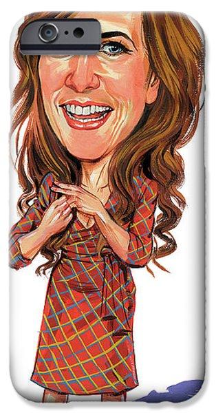 Art iPhone Cases - Kristen Wiig iPhone Case by Art