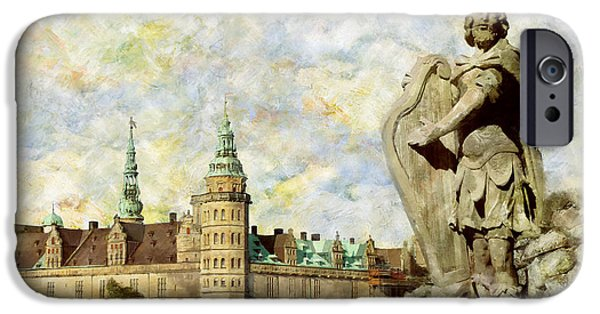 Denmark iPhone Cases - Kronborg Castle iPhone Case by Catf
