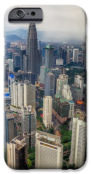Twin Towers iPhone Cases - Kuala Lumpur City iPhone Case by Adrian Evans