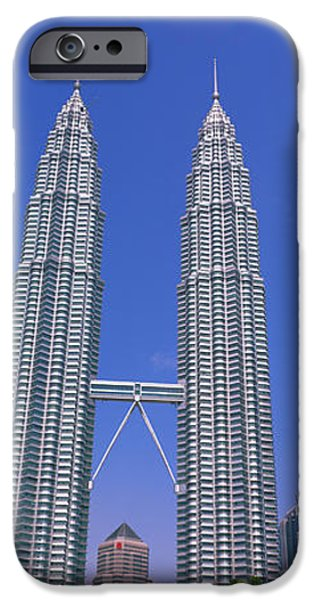 Twin Towers iPhone Cases - Kuala Lumpur, Malaysia iPhone Case by Panoramic Images