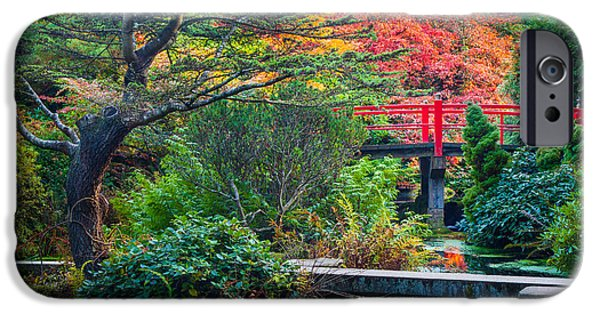 Pathway iPhone Cases - Kubota Gardens in Autumn iPhone Case by Inge Johnsson