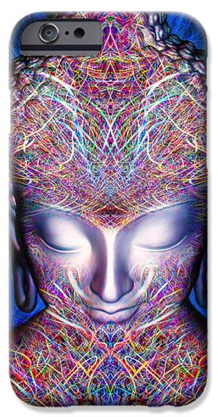Tibetan Buddhism iPhone Cases - Kundalini Awakening  iPhone Case by Jalai Lama