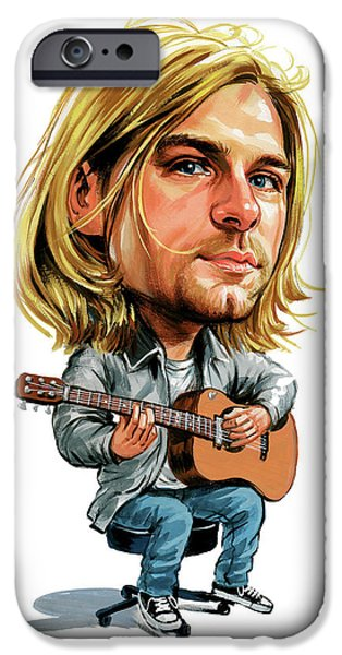 Kurt Cobain iPhone Case by Art