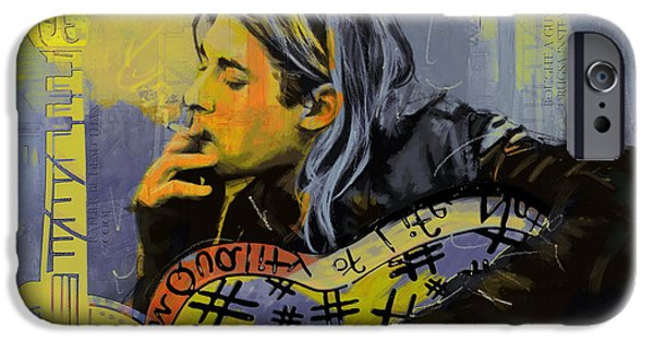 Nirvana iPhone Cases - Kurt Cobain iPhone Case by Corporate Art Task Force