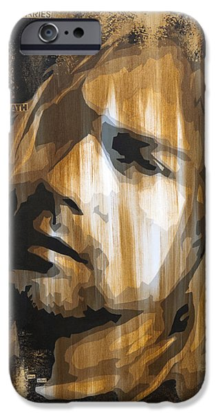 Male iPhone Cases - Kurt Cobain Tormented  iPhone Case by Brad Jensen