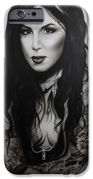Hand Paint Brushed iPhone Cases - k.v.d. Ii iPhone Case by Christian Chapman Art