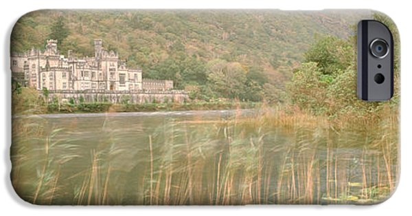 19th Century iPhone Cases - Kylemore Abbey County Galway Ireland iPhone Case by Panoramic Images