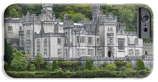 Abbey iPhone Cases - Kylemore Abbey iPhone Case by Mike McGlothlen