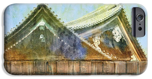 Kyoto iPhone Cases - Kyoto Temple iPhone Case by Carol Leigh