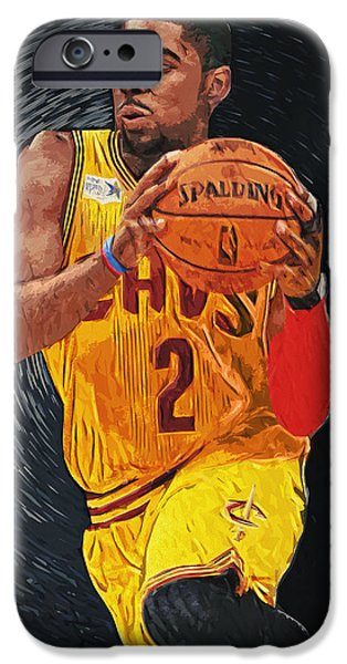 Lebron Digital iPhone Cases - Kyrie Irving iPhone Case by Taylan Soyturk