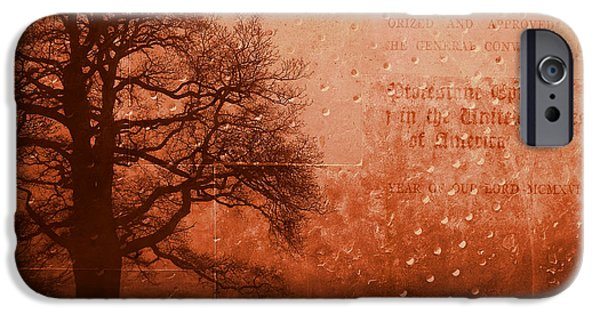 Redish iPhone Cases - L Arbre de Vie - s33rd02 iPhone Case by Variance Collections