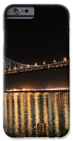 L E D Lights on the Bay Bridge iPhone Case by David Bearden