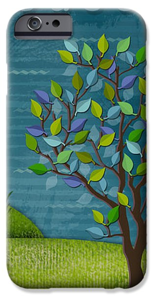 The Trees Mixed Media iPhone Cases - L is for Lighthouse iPhone Case by Valerie   Drake Lesiak