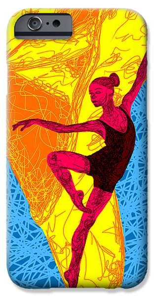 Ballerina Artwork iPhone Cases - La Ballerina Du Juilliard iPhone Case by Kenal Louis