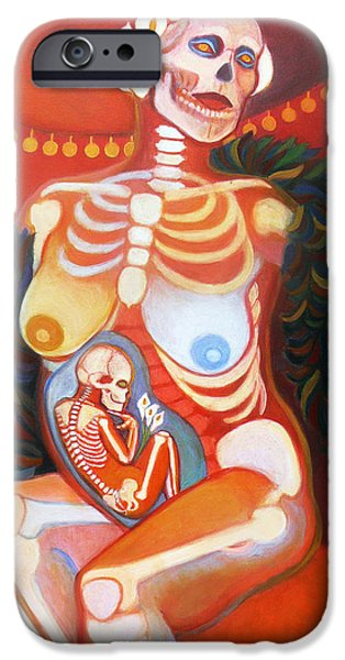 Serpent iPhone Cases - La Catrina iPhone Case by Deenie Wallace
