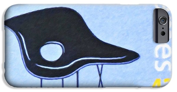Free Form Paintings iPhone Cases - La Chaise iPhone Case by Lanjee Chee