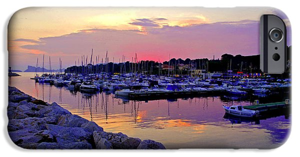 Turquois Water iPhone Cases - La Ciotat on French Riviera iPhone Case by Maja Sokolowska
