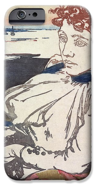 20th Drawings iPhone Cases - La Convalescante Mademoiselle Lepere iPhone Case by August Lepere
