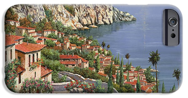 Roof iPhone Cases - La Costa iPhone Case by Guido Borelli