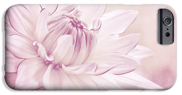 Macro Mixed Media iPhone Cases - La Dahlia iPhone Case by Angela Doelling AD DESIGN Photo and PhotoArt
